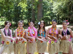 Hula girls... (j_jyarbrough) Tags: birthday flowers girls friends portrait nature georgia models daughters luau leis nieces 13th jjyarbrough thisphotoisthepropertyofjjyarbroughjohnyarbroughpleasedonotusewithoutmypermissionthankyou
