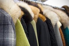 Row of Coats (cybertoad) Tags: nyc newyorkcity vacation ny newyork vintage clothing manhattan coats fleamarket hellskitchen thebigapple hellskitchenfleamarket