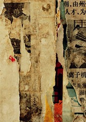censorship report (GraemeNicol) Tags: china abstract collage wall paper found asia surface posters tropical torn yunnan 2d information thewall ilmuro xishuangbanna   menghai borderingperception