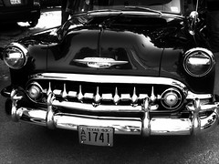 Chevy to the Levy (Chicago Love) Tags: show classic car blackwhite texas houston chevy 53chevy chicagolove