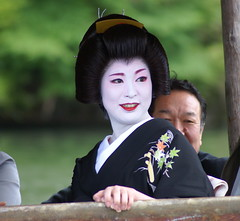 A set on Mifune Matsuri 04 (aurelio.asiain) Tags: portrait people beauty face look festival japan persona japanese kyoto colorful retrato cara joy arashiyama geisha   ritual  jappan aurelioasiain ionushi  mifunematsuri theasiaingallery