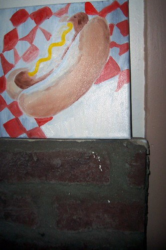 hot dog painting in progress2