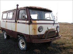 UAZ Camper Van (Observe The Banana) Tags: old car truck iceland rust snorkel 4x4 4wd vehicle van camper uaz