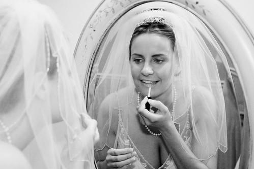 Sarah Wedding - Getting Ready - 066 -bw