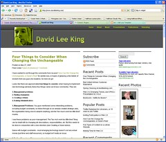 New Theme at davidleeking.com