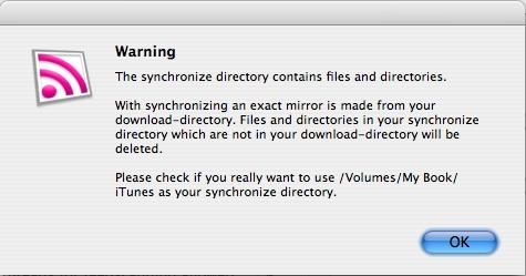 Podnova sync folder