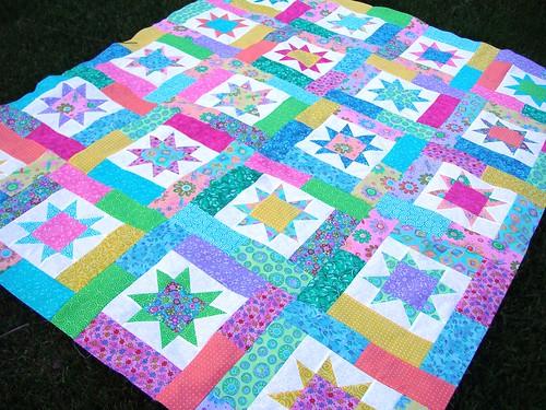 Pastel Star Quilt 2