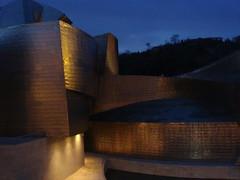 Night time at the Guggenheim (jamespav) Tags: spain bilbao guggenheim frankgehry