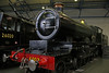"""GWR 4003 """"Lode Star"""" (Andrew Edkins) Tags: 4003 lodestar greatwestern geotagged nationalrailwaymuseum nationalcollection gwr indoor museum railwayphotography light york yorkshire england uksteam december 2016 saturday canon steamtrain heritage vintage turntable"""