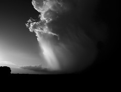 F = ma (momrunninglate) Tags: blackandwhite storm stormclouds kansas rural landscape nature sky dramatic contrast