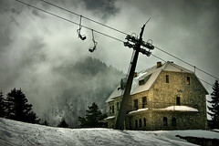 (azem) Tags: mountain ski fog canon eos spring lift center lodge azem kosova kosovo 2007 brezovica