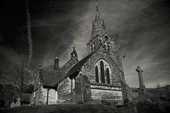 Edale Church (publicenergy) Tags: bw church peakdistrict edale