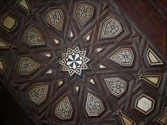 Minbar inlay 3 (helen_romberg) Tags: wood architecture egypt ivory mosque historic cairo inlay cityofthedead minbar islamiccairo northerncemetery amribnalas