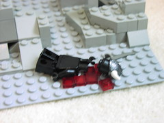 A sad attempt at repelling the enemy (Josh Calvetti) Tags: castle lego contest cc shade anubis