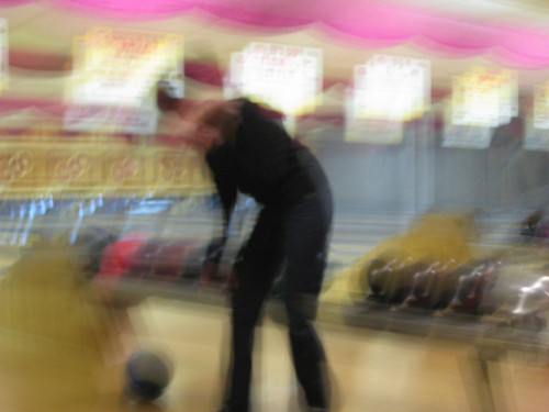 me, dropping my bowling ball