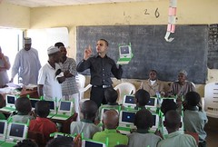 Nigerian students power up their OLPC laptops (inju) Tags: news students education cnet nigeria laptops opensource digitaldivide olpc