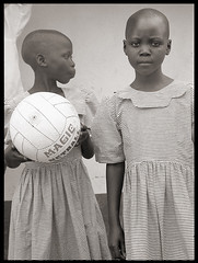 untitled (nategrubbs) Tags: africa girls bw sudan netball nikonfa stbartholomews