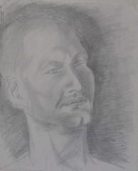 ManFace1 (Amudha Irudayam) Tags: pastel drawings charcoal figuredrawing sketches amudha poraiture