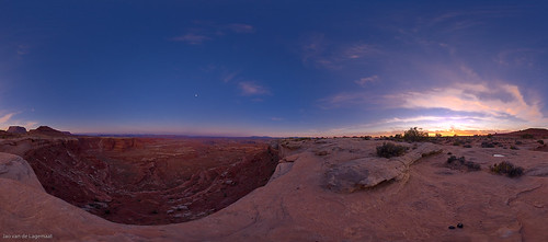 White crack sunset pano