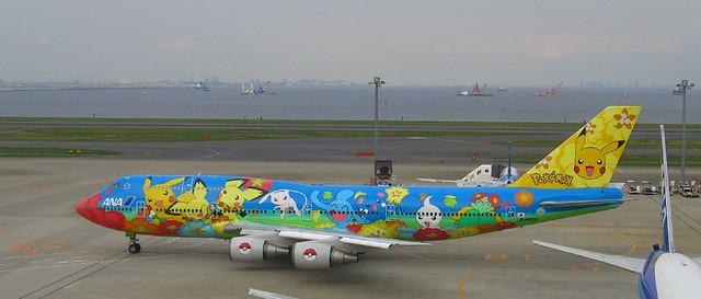 Avión Aerolínea ANA Pokémon Pikachu 10