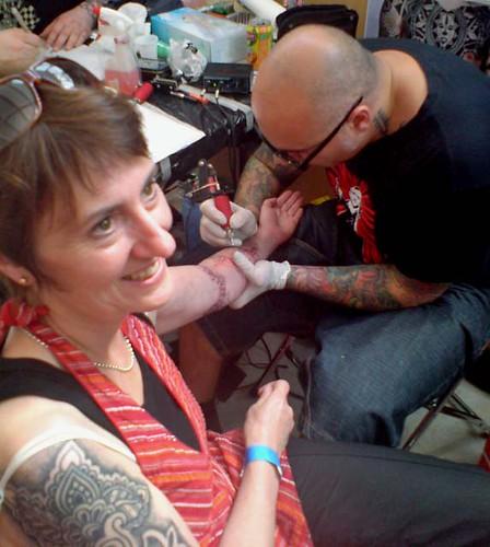 Dan tattoos Deb Hottest tattoo mama