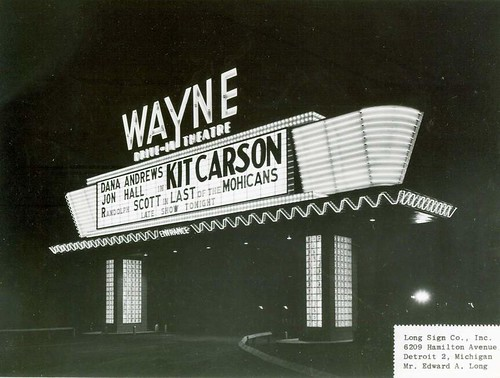 Wayne Drive-In Theatre Marquee - Wayne, Michigan