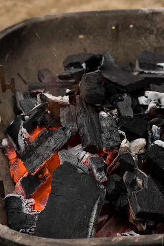 Charcoal for grilled fish