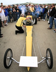 Dragster Collision (jurvetson) Tags: yellow oops halfmoonbay collision dragster hmb ethanol premonition headon dreammachines