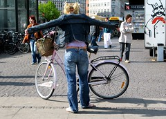 Cycle Chic: Jacket On (Mikael Colville-Andersen) Tags: girl fashion bike bicycle copenhagen style gear cycle chic pigtails  undressing  bikeporn streetfashion  nrreport    streetstyle girlsonbikes  bikeadvocacy cyclechic speed cyclechicbacksight copenhagencyclechic criticalmassissolastcentury fixedgearissoooolastcentury zakkadkruckenfigur chic advocacy velopassioncc