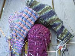 Socks WIP Pile