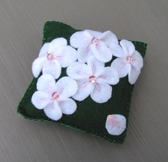 appleblossom pillow (kitkabbit) Tags: flower handmade felt swap poppy pincushion craftster
