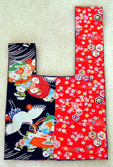 japanese bag (kitkabbit) Tags: japanese fabric swap kawaii kimono craftster