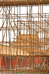 (-BRNO-) Tags: china travel red color construction beijing scaffold canon5d forbiddencity gugongmuseum