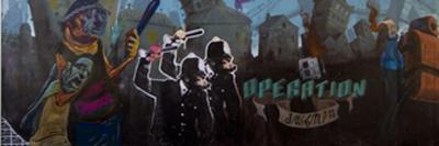 detalle del mural callejero
