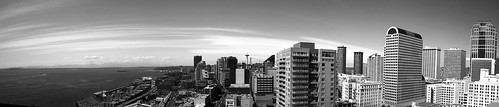 Downtown Seattle in Black and White