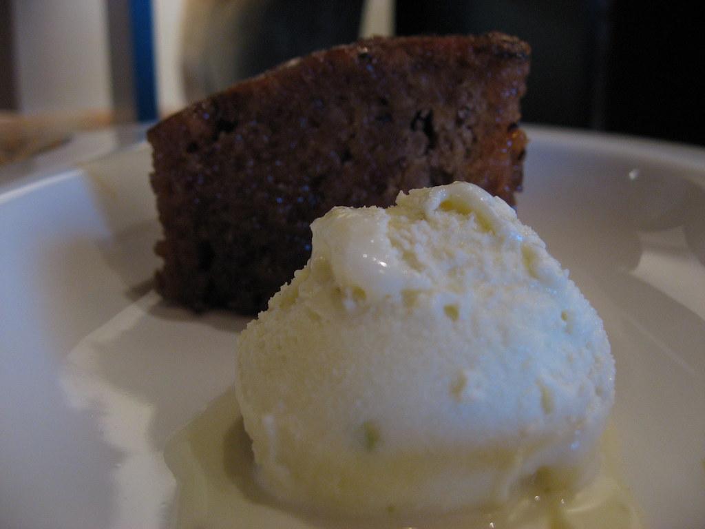 Date Cake + Ice Cream