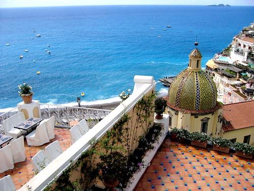 Las vistas desde Le Sirenuse, Positano, Italia