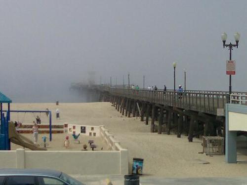 The Pier half in fog.