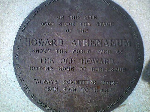 Plaque of the Old Howard Stage