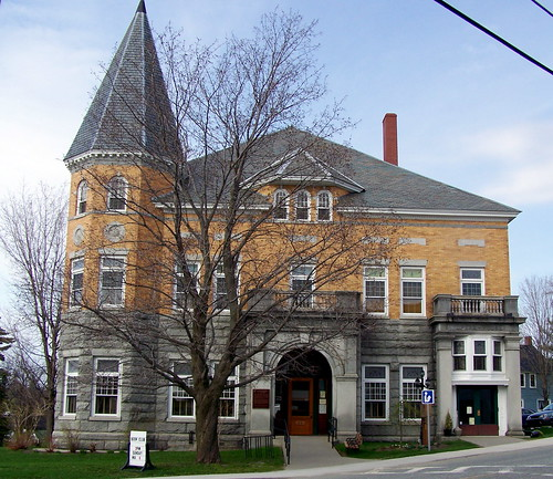 """The Haskell Free Library and Opera House straddles the Canada-United States"