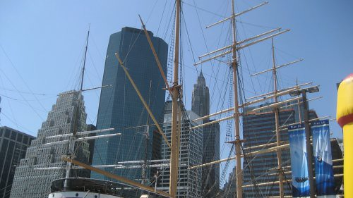 View of ship at South Street Seaport in 2007