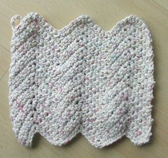 Ripple Crochet Dishcloth