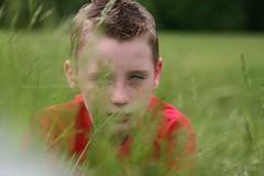 pounce (millylillyrose) Tags: boy colour 20d nature grass canon children child canon20d lion bradley pounce 75mm millylillyrose