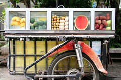 Fruit stand (heidiologies) Tags: vacation art fruits shopping thailand watermelon mango chiangmai antiques mangga santol artistvillage pakwan makopa