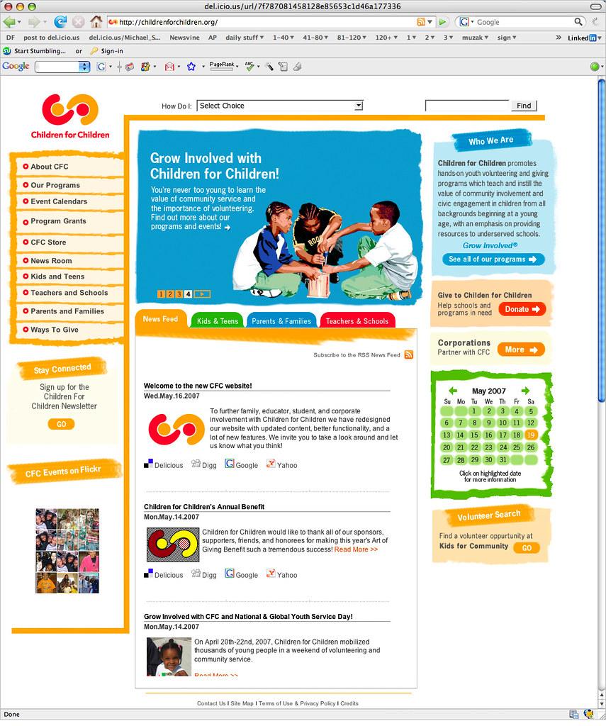 Children for Children Website