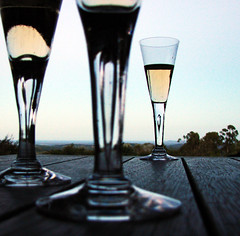 Champagne Hour #2 ({JO}) Tags: sunset glass glasses twilight dusk champagne bubbles wineglass flutes champers abigfave