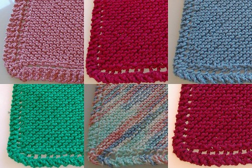 Hand knit wash cloths for store