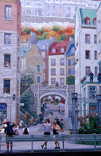 Mural, Old Quebec