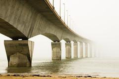 Where to? (ole) Tags: ocean bridge sea france fog island countryside europe background atlantic pont r le charentes explored 2pair bestofr noticings