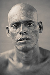 The Bald Man ( Poras Chaudhary) Tags: portrait india man classic grain bald superfantastique grainisgood tones kurukshetra tonning amazingportrait thebaldman brahamsarovar 24hoursofflickr